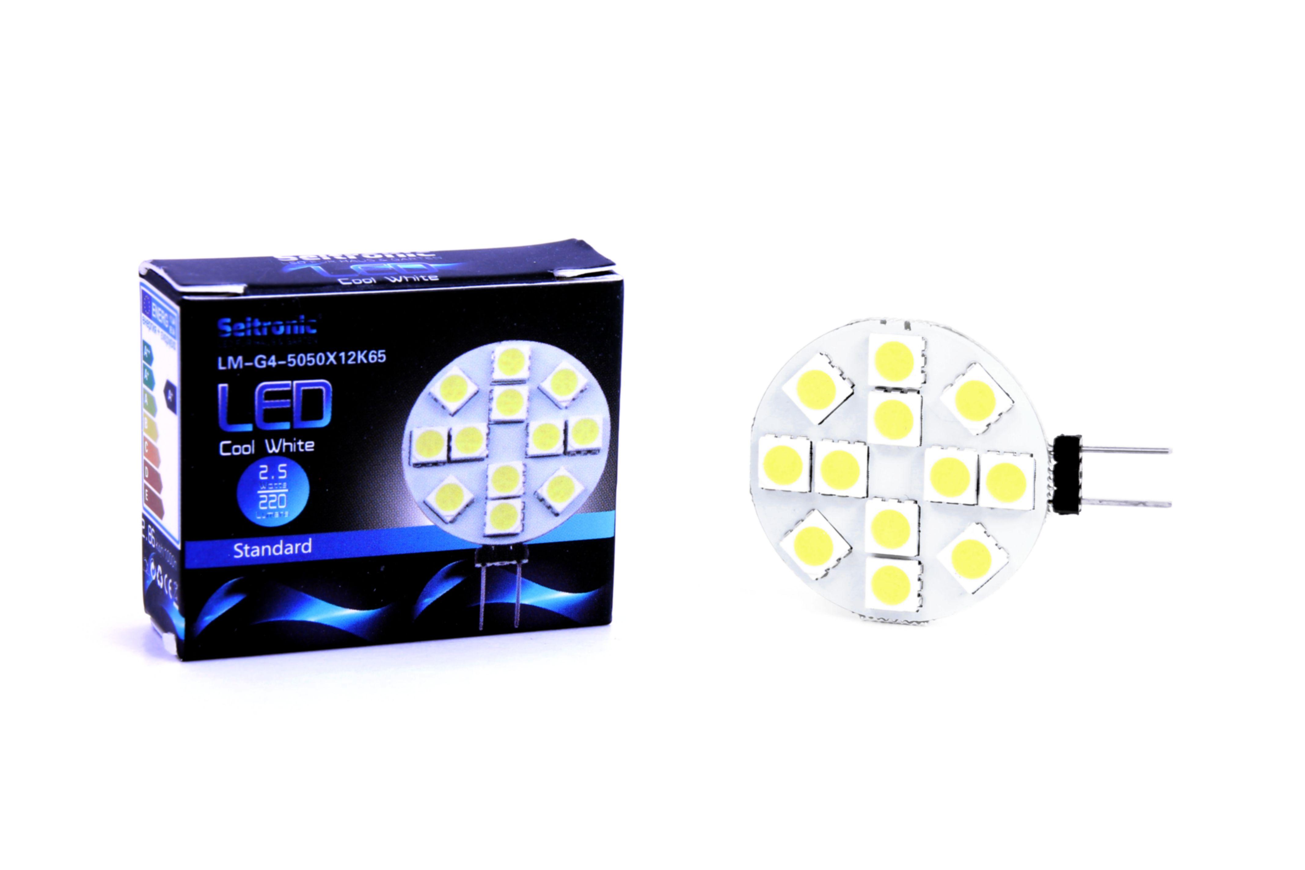 g4_led_leuchtmittel_seitronic_-_25_watt_220lm_6500k_12_leds_kalt-weiss Stilvolle Led Leuchtmittel G4 Dekorationen