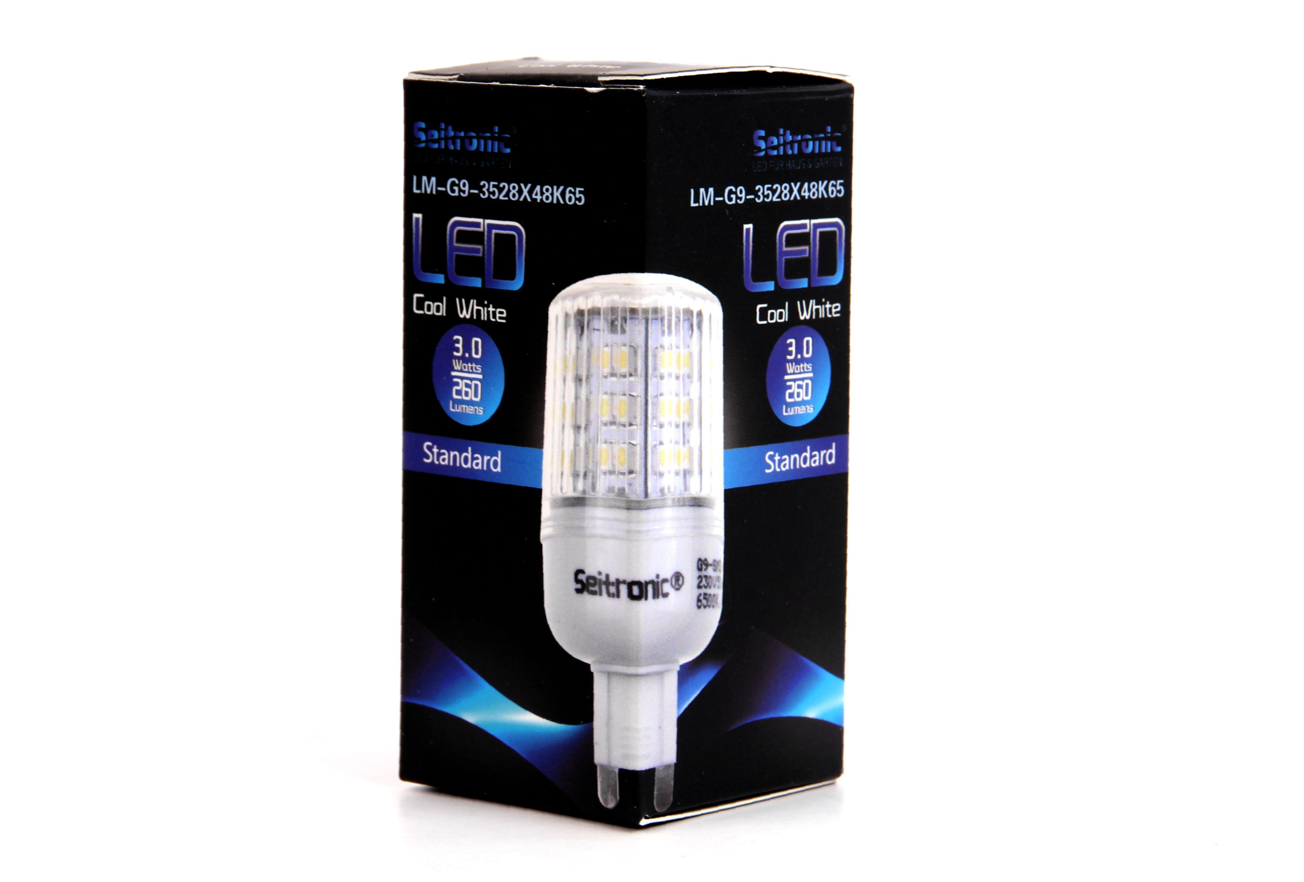 G9 LED Lampe Seitronic mit 3 Watt 48 LED Kalt weiß